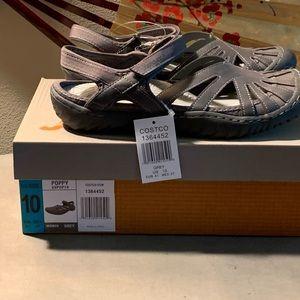 Gray Sport Poppy Sandals